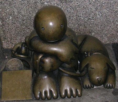 weird statues